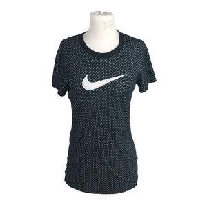 Nike Swoosh Polka Dot Short Sleeve Shirt Size M
